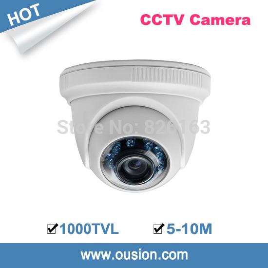 2014 new hot sale cmos cctv 1/3' 138 5-10m ir distance 3.6mm lens security color 1000tvl plastic dome camera ird86-610(China (Mainland))