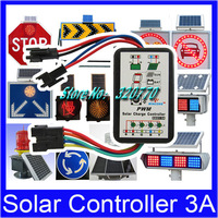 Wincong Solar Controller Control 3A SX01-3A 6-12V Auto Work Led Light Li Li-ion Lithium LiFePO4 Batteries Regulator Freeshipping