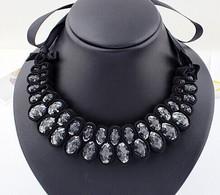 Acrylic slipknot statement bib necklace female fashion jewellery women necklaces accessories for woman collars joyeria jewelery