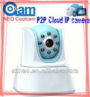 Mini wifi plug play IR nightvision  0.3MG security alarm cloud Wireless video IP Camera with SD card NEOCOOLCAM