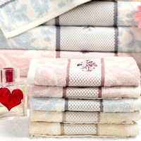 Hot sell 100% Egyptian cotton towel Floral towels Quick dry towels 34 x 80 cm face towel top quality hand towels brown