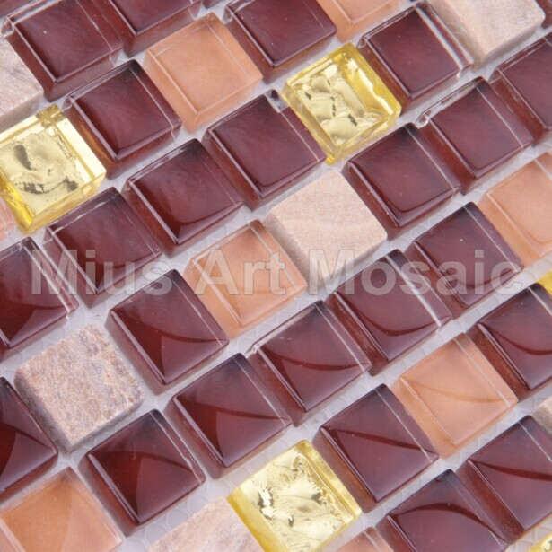 [Mius Art Mosaic] Brown glass mosaic Pure gold glass mosaic Bisazaa tile stone tile A5TC-1308(China (Mainland))