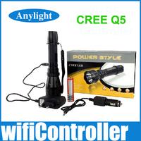 CREE q5 lanterna edc 1000 Lumens Led flashlight torch light with Compass+DC/Car Charger + 18650 battery+gift Box WLF37