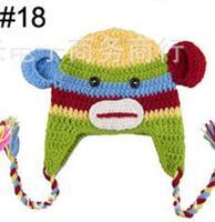 NEW 2014 boy's monkey Hat girl's Retail Hat Owl - Handmade Knitted Crochet Babybaby owl hat -DQX134C