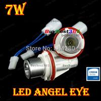 White CREE 7W Angel Eyes LED Lights Ring Marker Xenon HID for E39 E60 E87 pre-LCI E53 E61 Touring E63/E64 M6 E83 X3 E53 X5 E65