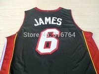#6 Lebron James Jerseys Classical Black Basketball Jersey