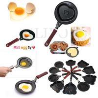Mini Shaped Egg Fry Frying Pan Cook pan Non Stick have Pot Lids Various Egg Frying Pancakes Kitchen Pan Housewares Cauldron