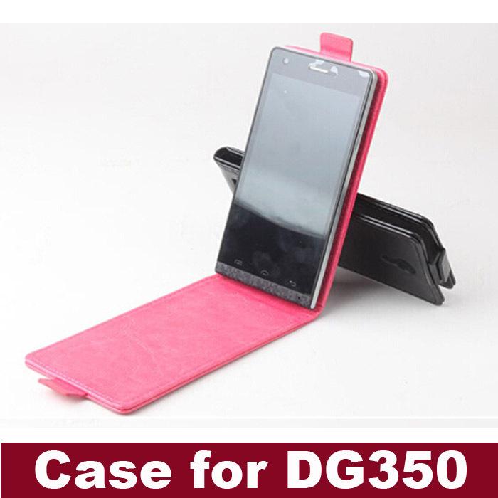 nouveau 2014 livraison gratuite téléphone portable sac en cuir pu doogee dg350 flip housse téléphone portable accessoires de trois couleurs