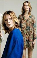 Women Tops Chiffon Blouse Print Flower Long Sleeve Vintage Retro Shirt Design Ladies Charming Retro Casual Top