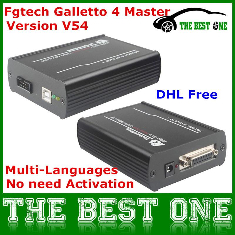 2015 Latest Version V54 FGTech Galletto 4 Master BDM-TriCore-OBD Function FG Tech V54 ECU Chip Tuning Programmer Tool DHL Free(China (Mainland))