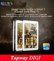 "Tablet pc Cube U30GT1 10.1""  Quad Core MID RK3188 Cortex A9 1.4GHz Capacitive 1280*800 Dual Camera BT HDMI 1G ram 2G rom /16G"