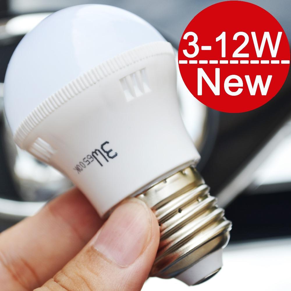 NEW LED lamps Free shipping 3W 5W 7W 9W 12W E27 LED bulb light lighting high brighness 220V 230V warm white/white D3-D12(China (Mainland))