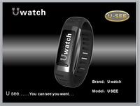 Bluetooth Smart Watch Sync Smart watch  U see U watch 0.91 inch Suspension Display PedometerNano Waterproof  wifi Smart Wristlet