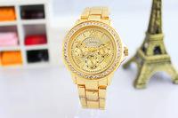 New 2014 Luxury Gold Dial Women Dress Watches Quartz Crystals Alloy Bracelet Wristwatch Elegant Office Lady Favorite Clock NW301
