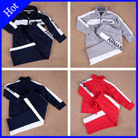 spring autumn 2015 fashion brand sports suit long sleeve alphabet baby boy set zipper kids clothes coat new clothing winter Swea