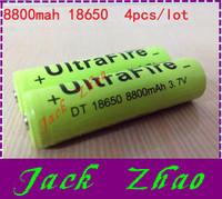 4pcs/lot 18650 rechargeable batteries 3.7v 8800 mAh Lithium li-ion battery for led Flashlight batteri batery 3pcs series 12V