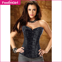 2014 Women New Style Satin Overbust Sexy Corset Body Shape Lingerie Waist Training Corselet Plus Size Corsets And Bustiers A