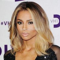 New hot 2014 ciara middle part wavy  human hair half wigs