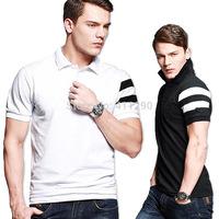 2014 Summer new fashion men's short t-shirts short sleeve lapel cotton t shirt brand mens t shirts