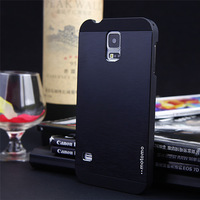 Slim Ultra thin Aluminum Metal Phone Cover Case For Samsung Galaxy S5 i9600 Brushed Metal Cover For S4 i9500 1pcs/lot
