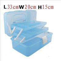 (large size) Multi Utility Storage Case Makeup manicure kit nail tool box 3 Layer Nail Art Craft Fishing Box Free Shipping #30o