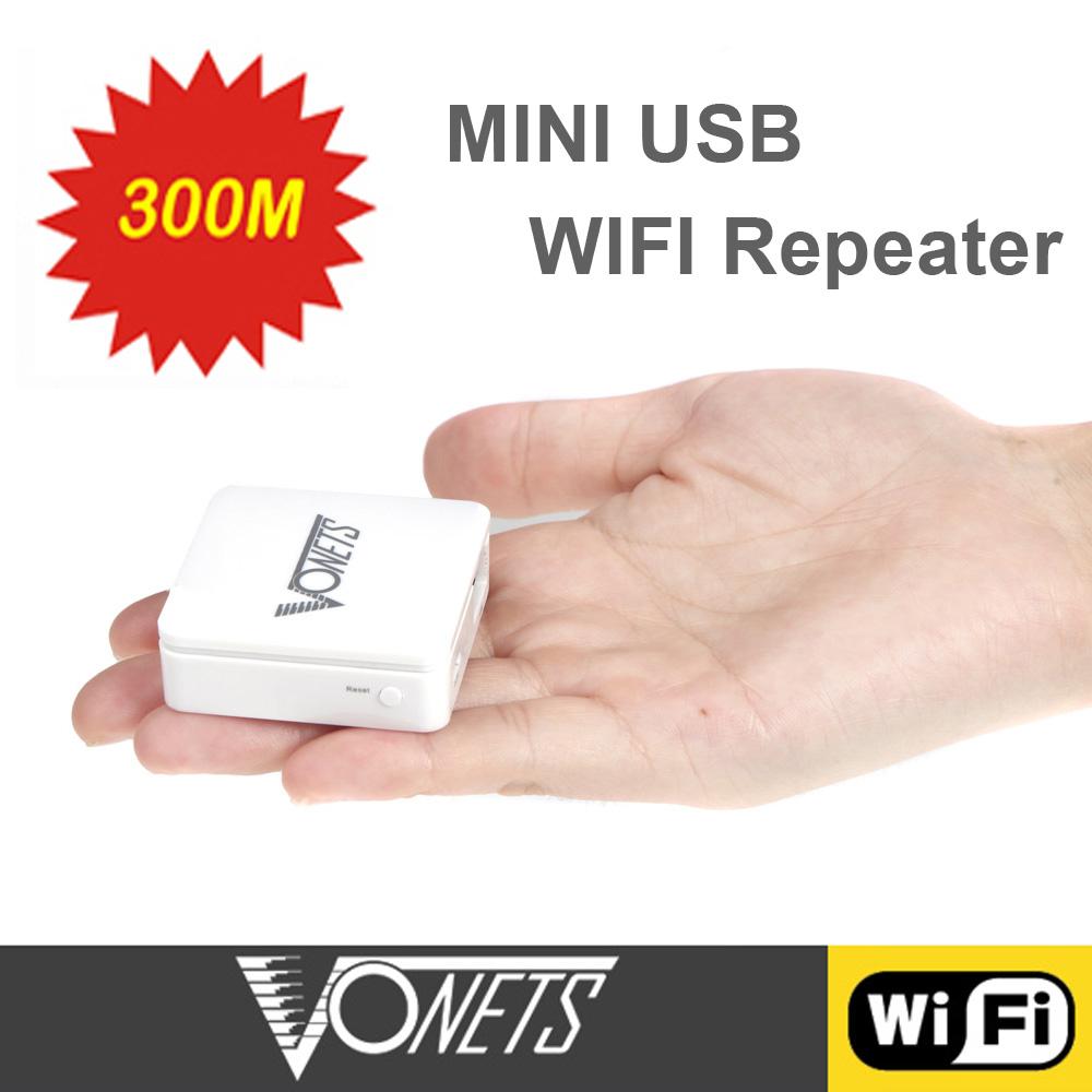 Vonets Wireless-N Mini WiFi Repeater Wi Fi wi-fi Repetidor 300Mbps USB Port Wireless Network Bridge Signal Booster(China (Mainland))