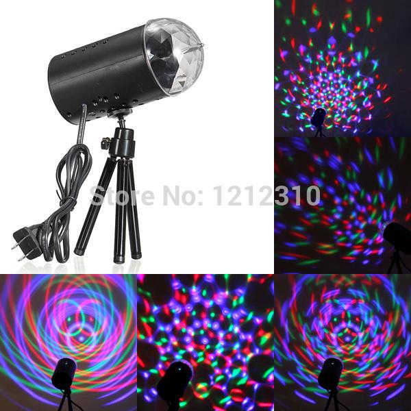 L'ue./us plug nouveau 3w rgb boule de cristal magique pour la fête disco laser éclairage de scène dj bar, ampoule d'éclairage show