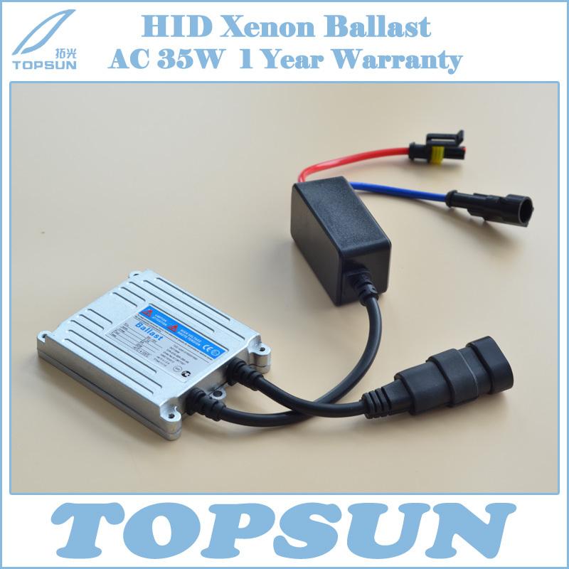 Free Shipping Car Light Parts Slim HID Ballast 12V 35W, good quality Topsun 35-7 hid ballast(China (Mainland))