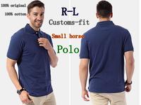 R-L 2014 Men Custom-fi Mesh Small horse Logo original tshirt/Short-Sleev men Golf/100% cotton,original casual brand T-shirt