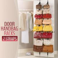 1 PC/lot Adjustable Straps Hanger 8 Hooks Hat Bag Clothes Rack Holder Organizer Over Door Free &drop shipping
