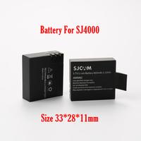 Original SJ4000 3.7V Li-on 900mAh Backup Rechargable Battery For SJ4000  (thick battery size 33*28*11mm)