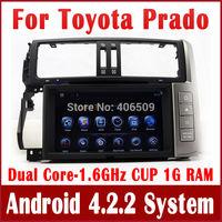 Android 4.2 Car DVD Player for Toyota Prado 150 TX TXL 2010-2013 w/ GPS Navigation Radio TV BT USB AUX DVR WiFi 1.6G CPU+1G RAM