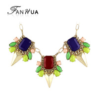 Big Created Gemstone Jewelry Candy Necklace for Women Wholesale Fashion Jewlery 2014