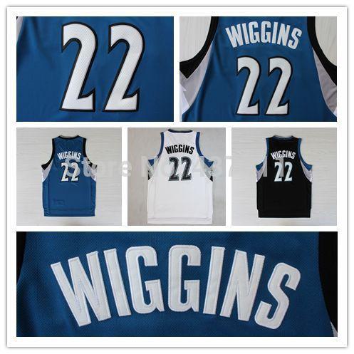 (3 cores) andrew wiggins rev preto azul branco 30 basquete jersey, minnesot