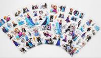 Frozen Kids Cute PVC Puffy Stickers Cartoon Craft Scrapbook Stickers, Frozen party suppliers,50Sheets(600pcs)
