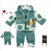 The new arrival Baby autumn and winter clothing set boy clothing sets outwear 3 pieces per set