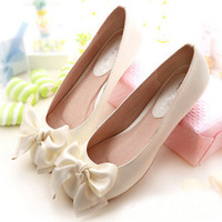 Hot sale 2014 Spring autumn new star style casual sweet flat heel women shoes woman bow ladies women flats luxury brand