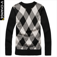 Sueter Men Sweaters Korean Version of The New Winter Long-sleeved Male Models Wholesale Fashionable Pullover Sweater Generations