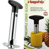 Free shipping Fruit Pineapple Corer Slicer Peeler Cutter Parer Knife Kitchen Easy Tool