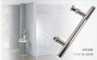 Stainless steel shower handle 19 *145 bathroom handle glass handle