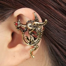 popular red dragon earrings