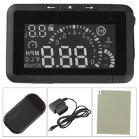 Universal Vehicle-mounted Car HUD Head Up car Display System with OBD II Show Fuel Consumption & Overspeed Warning