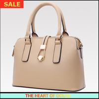 Fashion Handbag Women Pu leather Handbag Solid Hasp zipper Shell Shape Messenger Bag OL Shoulder Bag B095