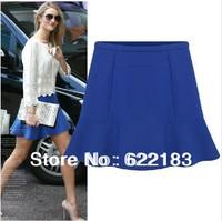 2014 Saia Women Short Chiffon Mini Skirt Blue Black Femininas Lady Skirt S M L XL 1Pcs 16034