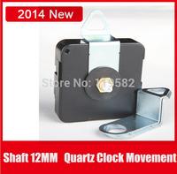 Cheap Metal Plastic Quartz Wall Clock Movement Mechanism Repair Parts Shafts 12MM With Metal Hanger And Screws Free Shipping