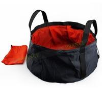 8.5L Foldable Washing Pot Hot Water Basin Sink Bags Waterpot Super Lightweight Fold bucketFor Hiking Traveling OT10