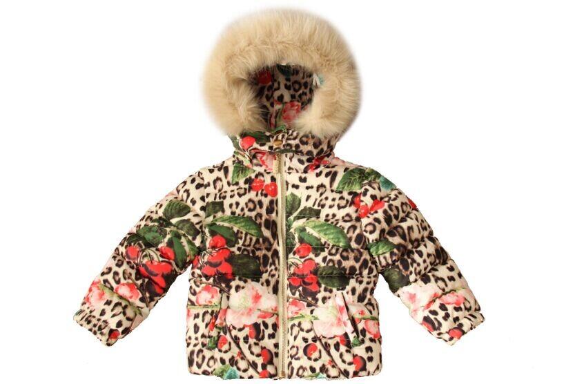 Nouveau 2014 hiver, les enfants manteaux chauds, italie design de la marque robe des filles, fille manteau de duvet de haute qualité, enfants d'épaisseur. plume. vêtements de plein air, 2-8y