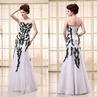 In Stock Sweetheart Strapless Mermaid Long Length Beaded Lace Prom Dresses New Arrival Real Sample Elegant Evening Dresses 2014