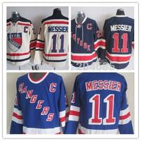 Ice Hockey Jersey New York Rangers 11 Mark Messier Dark Blue Jersey Third Embroidery Mark Messier Jerseys Wholesale