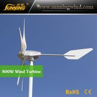 800W 48V 5 blades high efficient good quality horizontal wind turbine